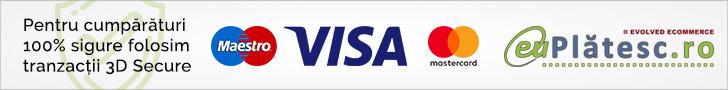 Cumparaturi 100% sigure online cu card bancar prin EuPlatesc.ro